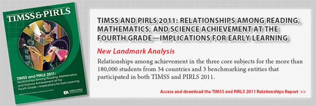 TIMSS and PIRLS 2011: Relationships Among Reading, Mathematics, and Science Achievement at the Fourth Grade—Implications for Early Learning. New Landmark Analysis. Relationships among achievement in the three core subjects for the more than 180,000 students from 34 countries and 3 benchmarking entities that participated in both TIMSS and PIRLS 2011.